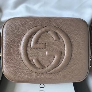 Gucci Soho Beige Disco Crossbody/Shoulder Bag